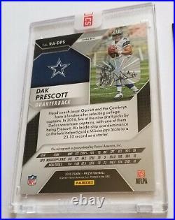 Dak Prescott Pink Auto Rookie Football Card Prizm Dallas Cowboys