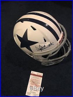 388747d5e Dak Prescott Signed Dallas Cowboys Game Used Helmet Jsa Witness ...