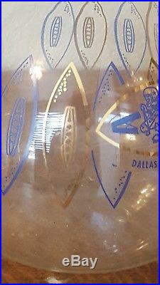 Dallas Cowboy wine decanter from 1960. Featuring their first logo. And NFL logo