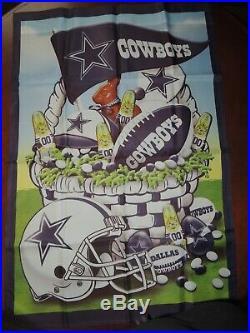 Dallas Cowboys 12 Month Flag Collection Willabee & Ward Rare