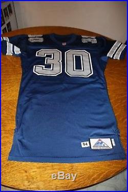 Dallas Cowboys 1994 GAME USED Jersey Darren Studstill (WVU) Blue #30