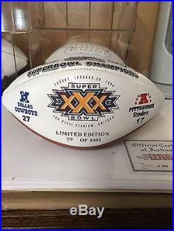 Dallas Cowboys 1996 Super Bowl Championship Commemorative Football Rare