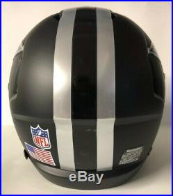Dallas Cowboys Authentic Riddell Speed Full Size Football Helmet Custom Black
