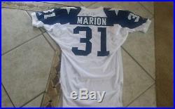 Dallas Cowboys Brock Marion 1994 Autographed Game Jersey