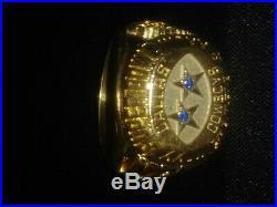 Dallas Cowboys Championship NFL Football Sapphire Ring Balfour 1994