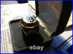 Dallas Cowboys Championship NFL Football Sapphire Ring Balfour 1994 Back 2 Back
