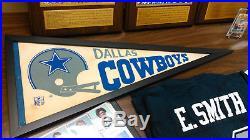 Dallas Cowboys Collection Plaques, Cards, Helmet, Pennant, Etc