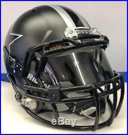 Dallas Cowboys Custom Authentic Riddell Speed Full Size Football Helmet BLK ICE