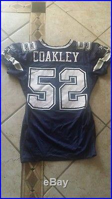 Dallas Cowboys Dexter Coakley Game Used Jersey