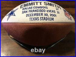 Dallas Cowboys Emmitt Smith Presentation Wilson Football Game Used Ball