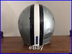 Dallas Cowboys Game USED WORN Football Helmet BIKE Pro AiR, Green Dot Facemask
