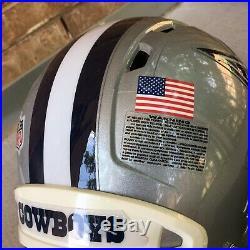 Dallas Cowboys Game Used Worn Football Helmet 2012 NFL