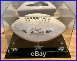 Dallas Cowboys INAUGURAL SEASON/GAME/EVENT Collectible Football w DISPLAY CASE