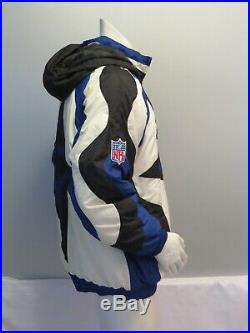 Dallas Cowboys Jacket (VTG) Puffer Parka Big Star Logo Apex One Men's Medium