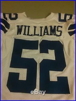 Dallas Cowboys Leon Williams game used football jersey mens 46 Reebok 2010