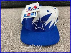 Dallas Cowboys Logo Athletic Sharktooth Hat Snapback Cap Football jersey VTG