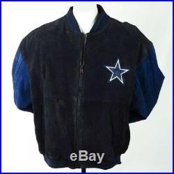 separation shoes bfa0f dd02a Dallas Cowboys Men Leather Jacket XL Black Blue Suede NFL ...