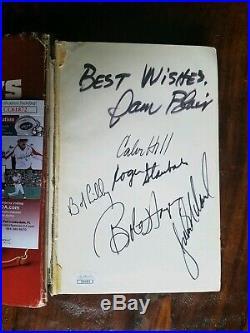 Dallas Cowboys Pro Or Con Signed Book Roger Staubach Bob Hayes JSA