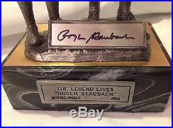 Dallas Cowboys ROGER STAUBACH Signed COA Michael Ricker Pewter Figure Sculpture