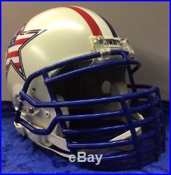 Dallas Cowboys Riddell Full Size Football Helmet Custom With Big Grill Facemask