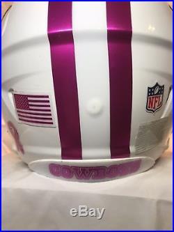 Dallas Cowboys Riddell Speed Football Helmet Pink Chrome Dak Prescott