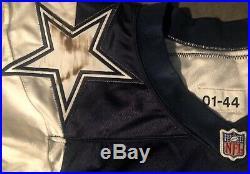 Dallas Cowboys Rocket Ismail 2001 Reebok Double Star game Worn jersey Sz 44