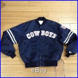 Dallas Cowboys Starter Jacket Size XL Nfc Nfl Vintage Satin Throwback