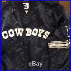 Dallas Cowboys Starter Satin Jacket Size 3XL NFL