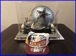 Dallas Cowboys Team Signed Helmet Super Bowl Champions 50 SIGNATURES