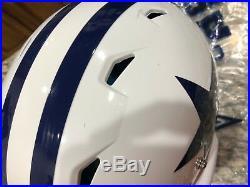 Dallas Cowboys Used Helmet Shell Schutt Throwback