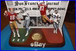 Dallas Cowboys Vs San Francisco'the Catch' Danbury Mint Figurine Extremely Rare
