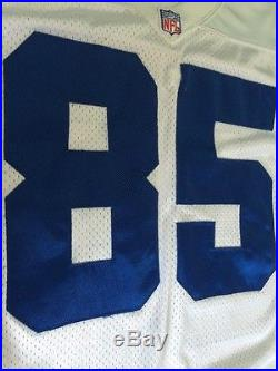 Dallas Cowboys White Jersey Authentic Game Cut Issued Reebok Sz 46