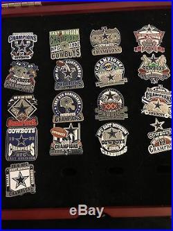 Dallas Cowboys Willabee And Ward Pin Collection and Box 37 championship pins