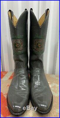 Dallas Sidekicks Soccer Misl 86-87 Championship Award Cowboy Boots Sz 10 D