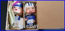 Dallas cowboys kissing nodders bobblehead in original box vintage