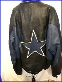 Dallas cowboys vintage sports memorabilia Leather Jacket Size 2xl