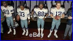Danbury Mint 1977 Dallas Cowboys figurine set in great shape with cert of Authen