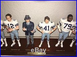 Danbury Mint Dallas Cowboys 1977 Championship Figurines Landry Staubach Dorsett