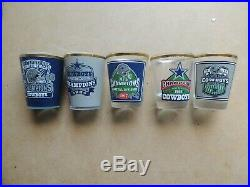 Danbury Mint Dallas Cowboys Championship Shot Glass Collection