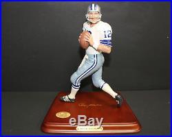 Danbury Mint Roger Staubach Qb Dallas Cowboys Figurine Original Packing & Box