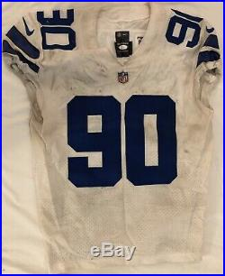 Demarcus Lawrence Dallas Cowboys Authentic Game Used Autographed Jersey JSA COA