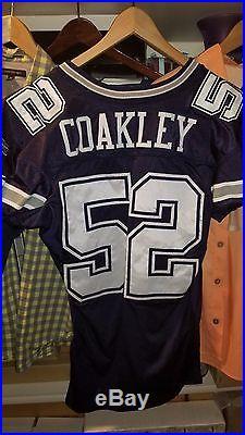 Dexter Coakley Dallas Cowboys Game Used Worn Jersey Size 48 Reebok Tag 04-48