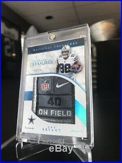 Dez Bryant 2016 National Treasures Game-Used Laundry Tag 1 of 1