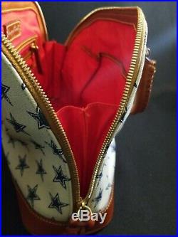 Dooney & Bourke NFL Dallas Cowboys Zip Zip Satchel in excellent condition