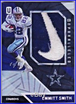 EMMITT SMITH 2016 Unparalleled GAME-USED Nike Swoosh Logo Patch True 1/1 COWBOYS