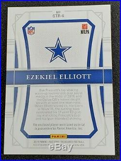 EZEKIEL ELLIOTT 2019 NATIONAL TREASURES DUAL Patch Tag Laundry TRUE 1/1 Cowboys