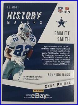Emmitt Smith 1/3 SSP 2019 Prestige History Makers Auto Autograph Dallas Cowboys