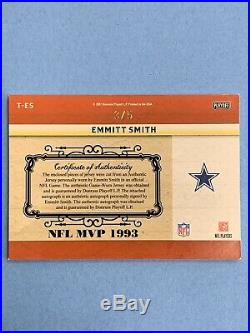 Emmitt Smith 2007 Playoff National Treasures Timeline Triple Patch Auto 3/5 RARE