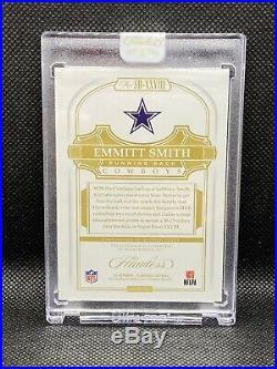 Emmitt Smith 2018 Flawless Auto 2/2 Emerald Super Bowl MVP Sealed Dallas Cowboys