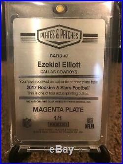 Ezekiel Elliott 1/1 Auto Printing Plate